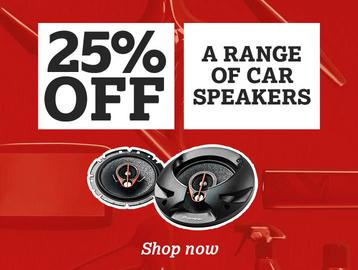 25% off a Range of Car Speakers